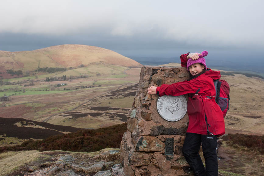 Hannah on the summit of Gowbarrow Fell