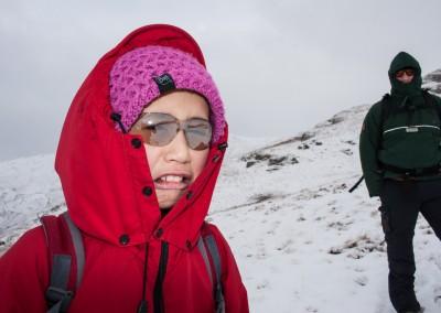 Hannah climbing Low Pike