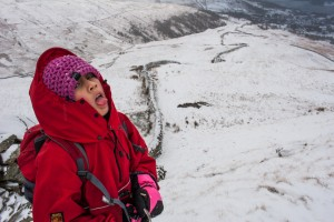 Hannah above Low Pike