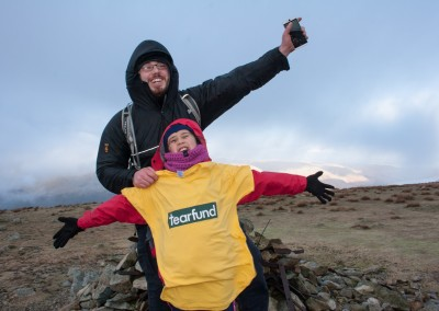 On the summit of Harter Fell for 'NO Child Taken' Tearfund.