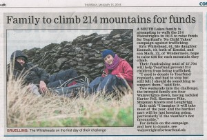 wainwrights for tearfund featured in Gazette