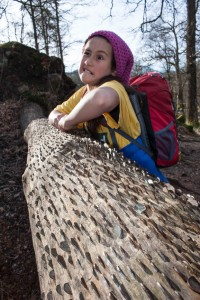 Hannah with money treet at Colwith Force