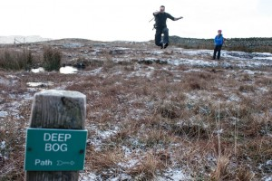 Deep bog below Low Pike