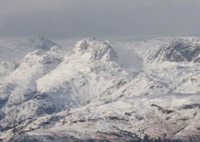 Bowfell, Langdale Pikes from Wansfell Pike