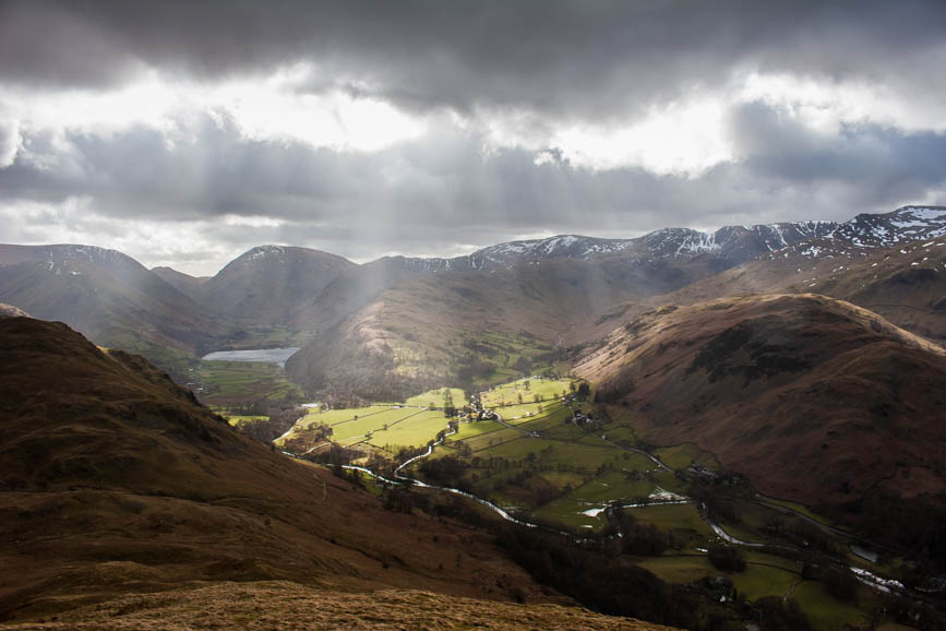 Patterdale and Brothers Water from Place Fell