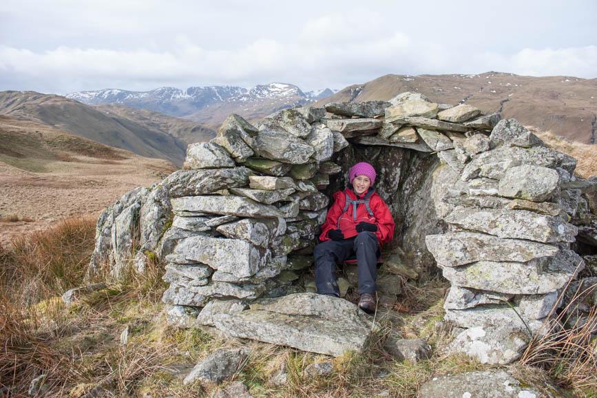 The shelter on Beda Fell, Ullswater
