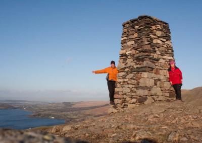 Eric and Hannah on the summit of Hallin Fell