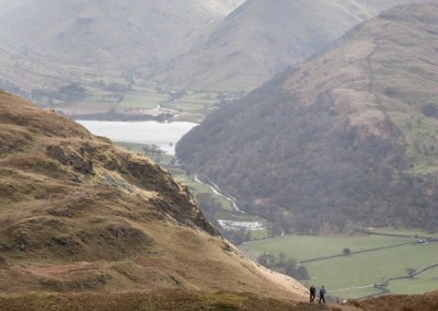 Walkers ascend Place Fell