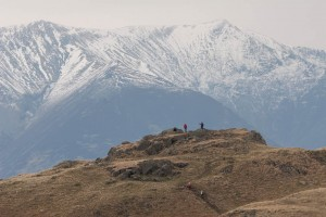 Walkers on the summit of High Rigg