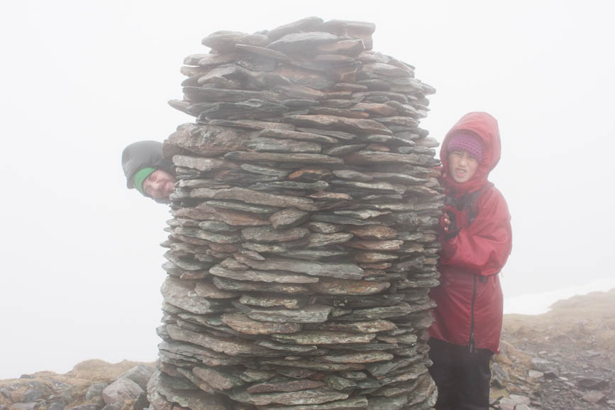 Mark and Hannah at the summit of Dale Head