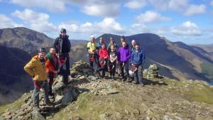 Summit team on Fleetwith Pike