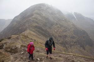 Mark & Hannah on The Scar between Sail and Eel Crag