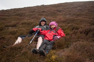 Taking a rest in the heather on Outerside