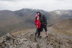 Mark and Hannah on the summit of Grisedale Pike