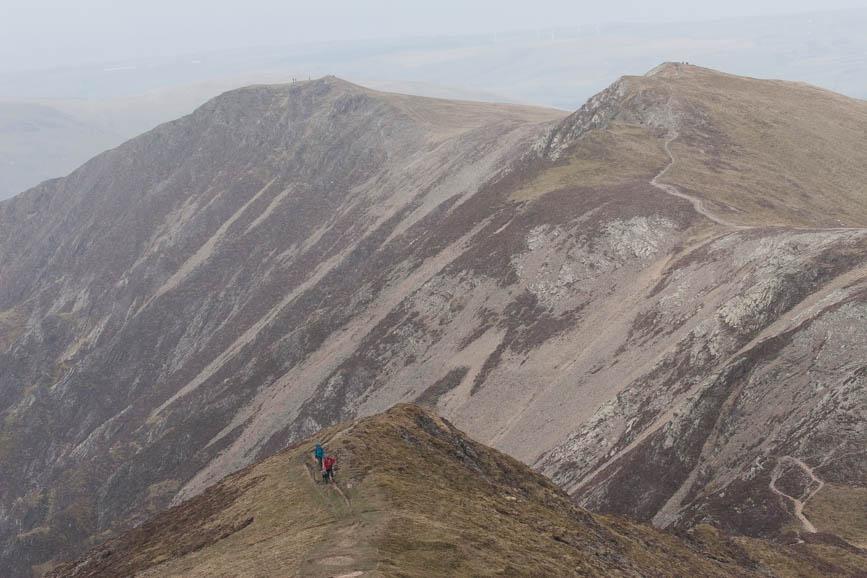 Walkers approach Hopegill Head from Whiteside