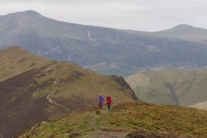 Walking along the ridge from Knott Rigg to Ard Crags. Red Pike and Starling Dodd are in the background
