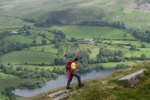 Walking up Burnbank Fell with Loweswater below