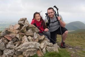 Hannah and Mark on summit of Gavel Fell