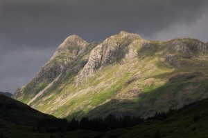 Langdale Pikes (Pike O' Stickle and Loft Crag) in Alpine Scenery