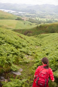 Hannah's trail down Lonscale Fell