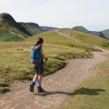 So far, no further, Hannah on the path to Cat Bells