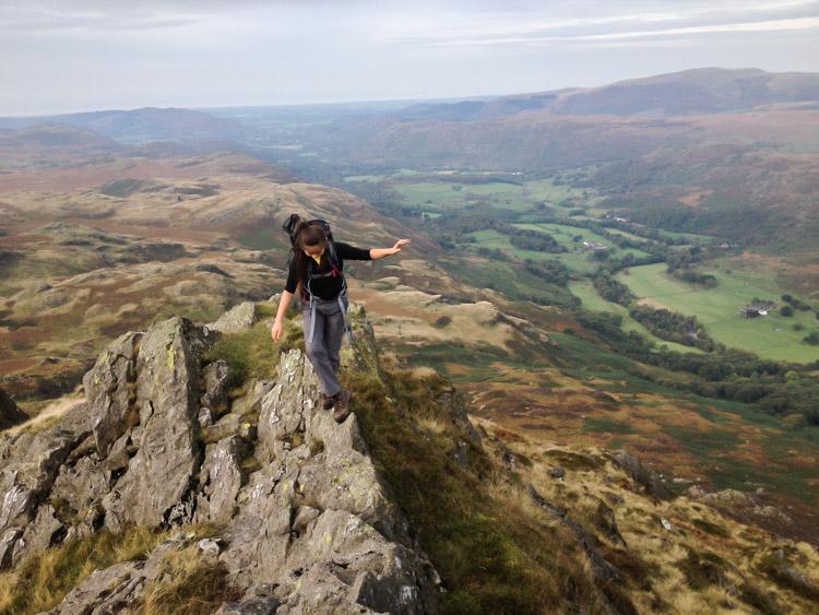 'LIttle Striding Edge' on Harter Fell