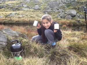 Small tarn brew-up on Harter Fell
