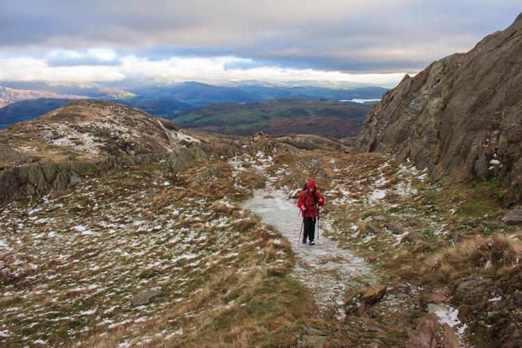 climbing Birk Fell