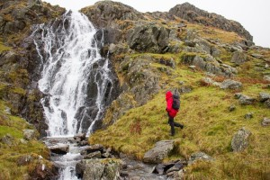 Waterfall on approach to Grisedale Hause