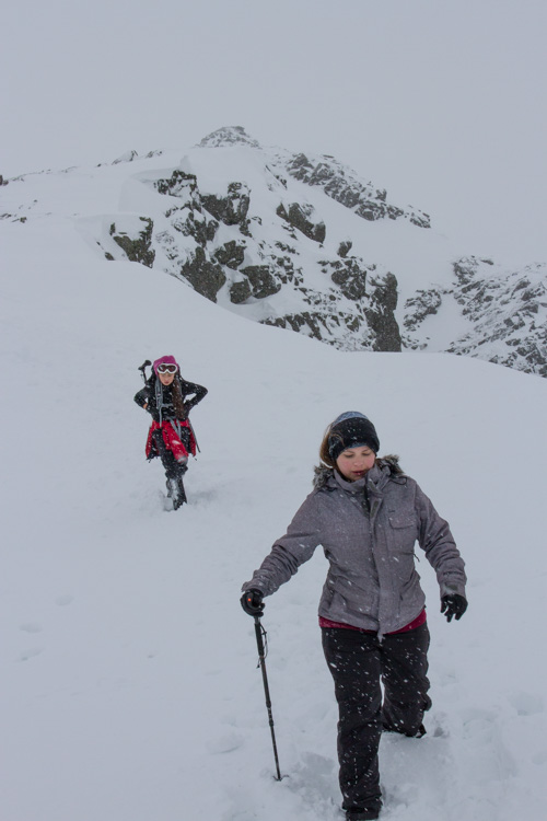 Leaving the summit of Dow Crag in a whiteout