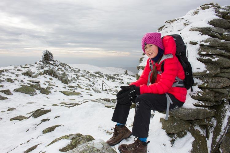 Hannah on the summit of Ill Bell